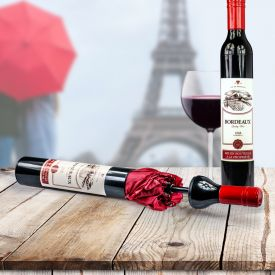 Parapluie - Bouteille de vin