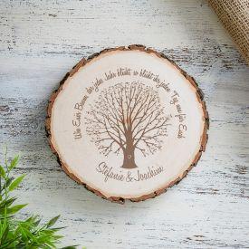 Baumscheibe mit Gravur - Ehebaum