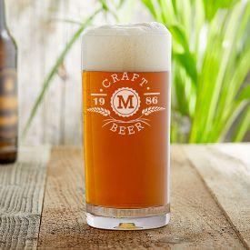 Craft Beer Glas mit Initialen Gravur - hren