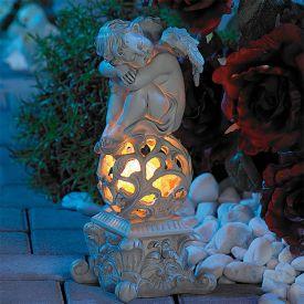 LED Solarleuchte Engel