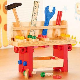 Kinder Werkbank aus Holz - 51-teilig