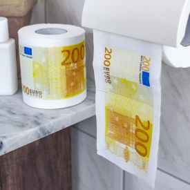 Geld Toilettenpapier - 200 Euro - 2er Set