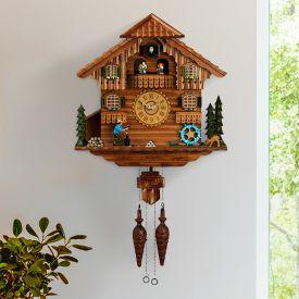Schwarzwlder Kuckucksuhr aus Holz - handgeschnitzt