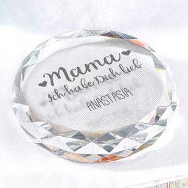 Kristall mit Gravur fr Mama