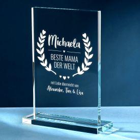 Personalisierter Glaspokal - Auszeichnung fr Beste Mama