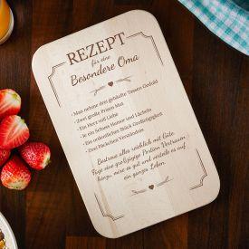 Frhstcksbrettchen mit Gravur fr Oma - Rezept