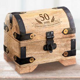Mini Geld Schatztruhe zum 50. Geburtstag
