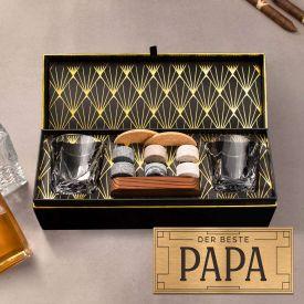 Whisky Set in edler Geschenkbox - Bester Papa