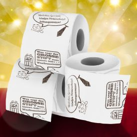 3er Set Bedrucktes Toilettenpapier - WC Witze