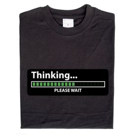 Animiertes Geek Shirt Thinking