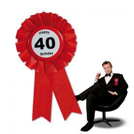 Ansteckbutton zum 40. Geburtstag