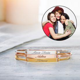 Set de 3 bracelets avec gravure