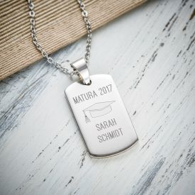 Army Dog Tag Kette mit Gravur - Matura