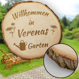 Baumscheibe mit Gravur - Garten
