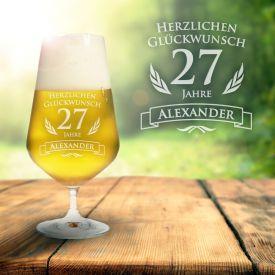 Bierglas zum Geburtstag