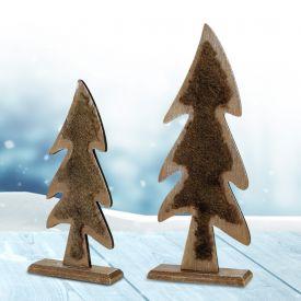 Deko Tannenbaum aus Holz - mit Gravur