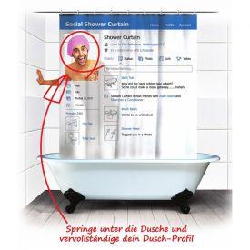 Duschvorhang - Soziales Netzwerk