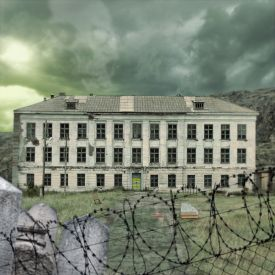 Ancienne clinique psychiatrique comme maison de campagne