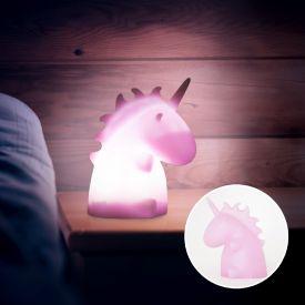 Lampe licorne - rose