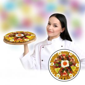 Pizza aux bonbons glifis fruits - quatre saisons
