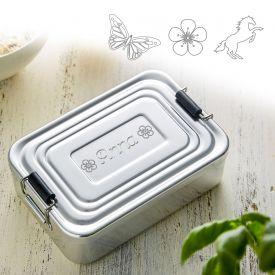 Gravierte Lunchbox fr Mdchen - quadratisch
