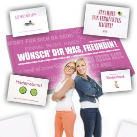 Gutscheinbuch fr beste Freundin - Wnsch Dir was