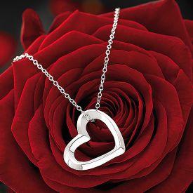 Halskette mit Herzanhnger aus Sterling-Silber