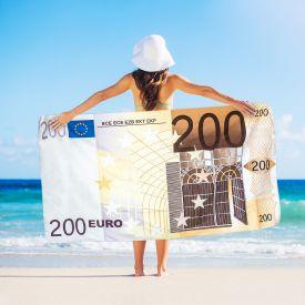 Serviette billet de 200 euros