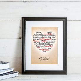 Herz aus Worten - personalisiertes Bild fr Liebespaare