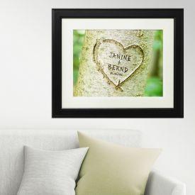 Herz im Baum Frhlingsbild - personalisiert