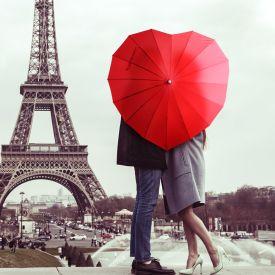Herz Regenschirm fr Paare