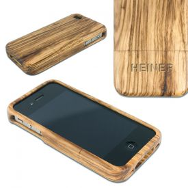 iPhone Hlle aus Echtholz