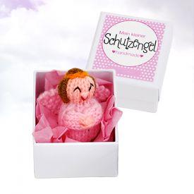 Kleiner Schutzengel - handgefertigter Talisman rosa