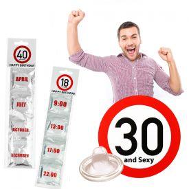 Prservatifs - Set de 4 pour lanniversaire