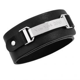 Bracelet en cuir avec gravure