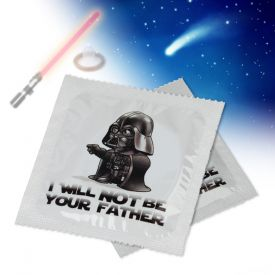 Prservatif marrant  I will not be your father