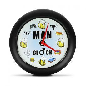 Mnner Uhr - Wanduhr mit Sound