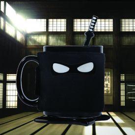 Ninja Tasse mit Lffel und Untersetzer