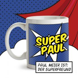 Personalisierte Supercape Tasse - Mann