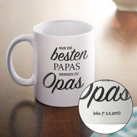 Personalisierte Tasse - Befrderung zum Opa