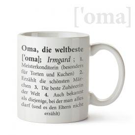 Personalisierte Tasse - Definition Weltbeste Oma
