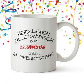 Geschenk 22. Geburtstag