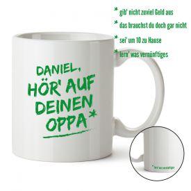 Personalisierte Tasse - Hr auf Deinen Oppa