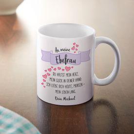 Personalisierte Tasse - Liebesgedicht Ehefrau