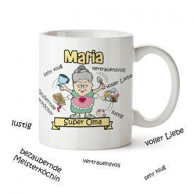 Personalisierte Tasse - Super Oma