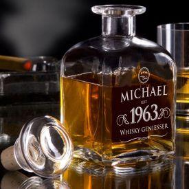 Carafe  whisky personnalise - lgante