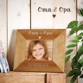 Personalisierter Bilderrahmen - Oma  Opa mit Herz