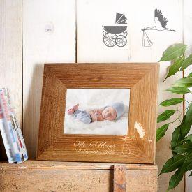 Cadre photo personnalis pour la naissance