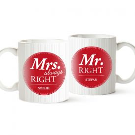 Set de tasses personnalises  Mr and Mrs Right