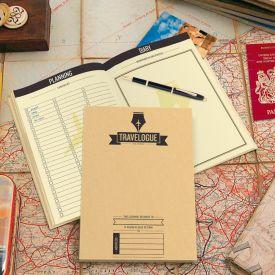 Reisetagebuch mit Rubbel Weltkarten